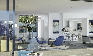 New modern luxury villas with amazing sea views for sale, frontline golf in East Marbella 17406