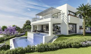 New modern luxury villas with amazing sea views for sale, frontline golf in East Marbella 17407