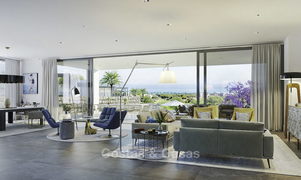New modern luxury villas with amazing sea views for sale, frontline golf in East Marbella 17408