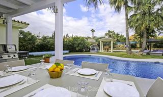 Prestigious Andalusian style villa with sea views and guest apartment for sale on the New Golden Mile, between Marbella and Estepona 14730