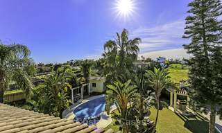 Prestigious Andalusian style villa with sea views and guest apartment for sale on the New Golden Mile, between Marbella and Estepona 14743