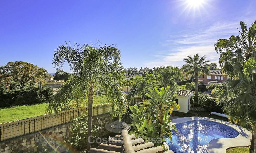 Prestigious Andalusian style villa with sea views and guest apartment for sale on the New Golden Mile, between Marbella and Estepona 14745