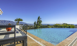 Magnificent modern-Andalusian villa with amazing panoramic views for sale in East Marbella 14786