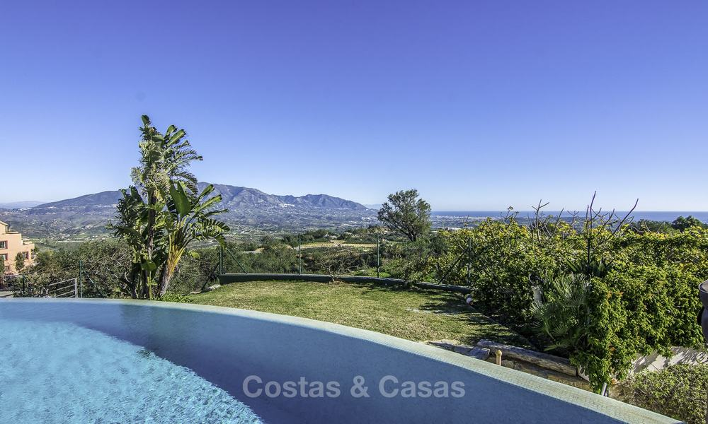 Magnificent modern-Andalusian villa with amazing panoramic views for sale in East Marbella 14788
