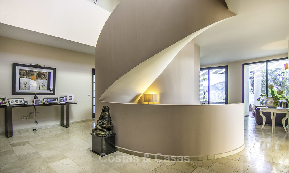 Magnificent modern-Andalusian villa with amazing panoramic views for sale in East Marbella 14793