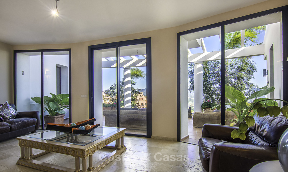Magnificent modern-Andalusian villa with amazing panoramic views for sale in East Marbella 14795