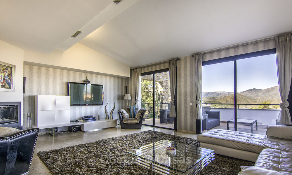 Magnificent modern-Andalusian villa with amazing panoramic views for sale in East Marbella 14797