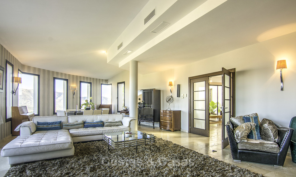 Magnificent modern-Andalusian villa with amazing panoramic views for sale in East Marbella 14798