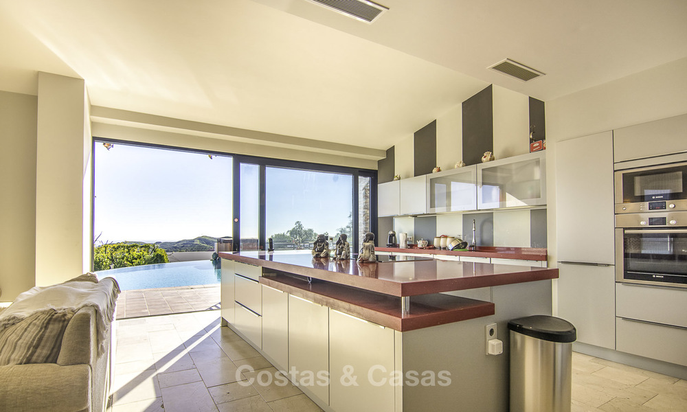 Magnificent modern-Andalusian villa with amazing panoramic views for sale in East Marbella 14803