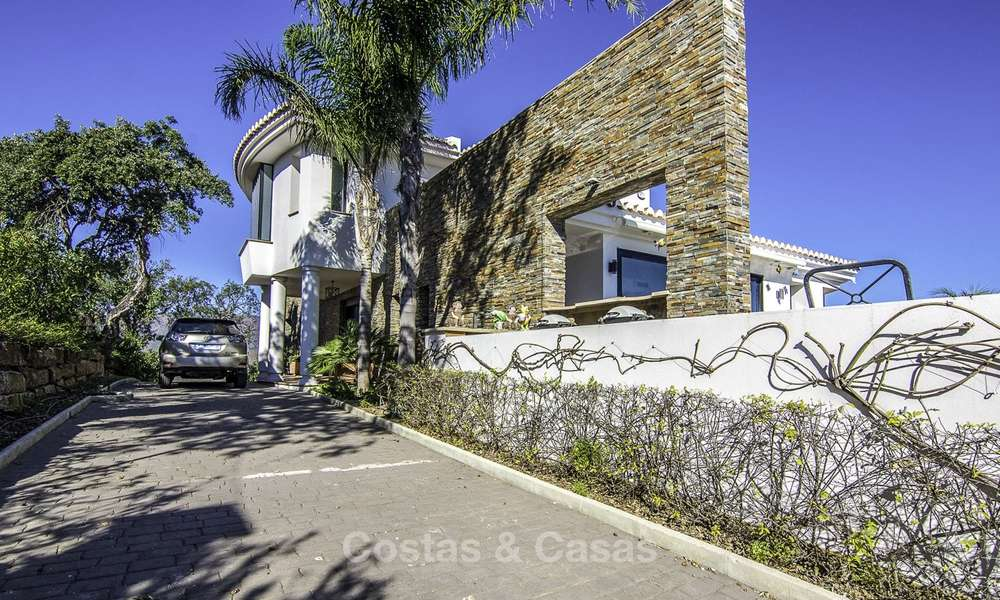 Magnificent modern-Andalusian villa with amazing panoramic views for sale in East Marbella 14819