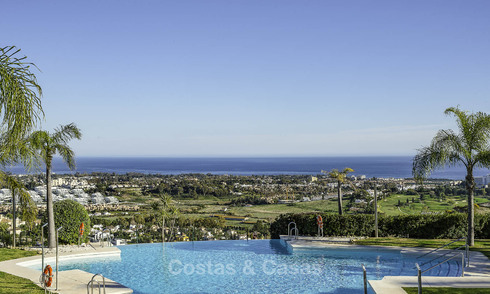 Very charming Andalusian style luxury apartments with amazing sea views for sale, move-in ready, Benahavis - Marbella 14833