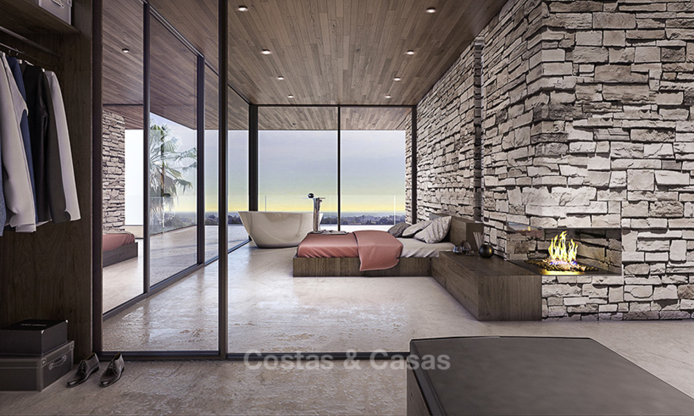 New, quintessential modern-contemporary luxury villa with magnificent sea views for sale, in an exclusive golf urbanisation in Marbella - Benahavis 14861