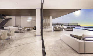 New, quintessential modern-contemporary luxury villa with magnificent sea views for sale, in an exclusive golf urbanisation in Marbella - Benahavis 14863