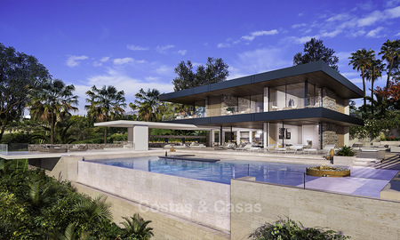 New, quintessential modern-contemporary luxury villa with magnificent sea views for sale, in an exclusive golf urbanisation in Marbella - Benahavis 14865
