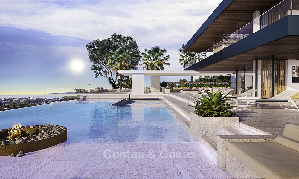 New, quintessential modern-contemporary luxury villa with magnificent sea views for sale, in an exclusive golf urbanisation in Marbella - Benahavis 14867