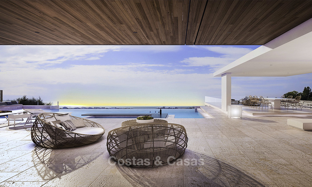 New, quintessential modern-contemporary luxury villa with magnificent sea views for sale, in an exclusive golf urbanisation in Marbella - Benahavis 14869