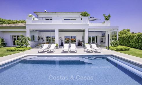 Elegant and very spacious modern-classic villa for sale, frontline golf in Elviria, East Marbella 14872