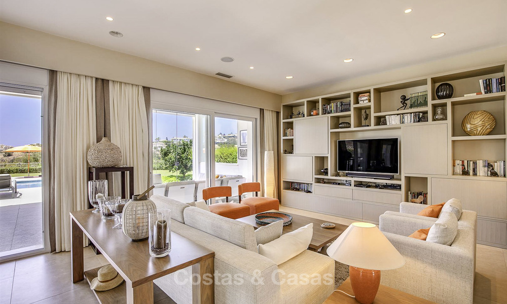 Elegant and very spacious modern-classic villa for sale, frontline golf in East Marbella 14873