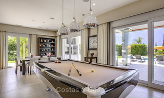 Elegant and very spacious modern-classic villa for sale, frontline golf in East Marbella 14875