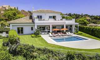 Elegant and very spacious modern-classic villa for sale, frontline golf in East Marbella 14882