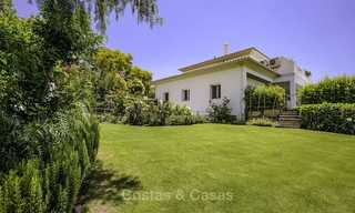 Elegant and very spacious modern-classic villa for sale, frontline golf in East Marbella 14899