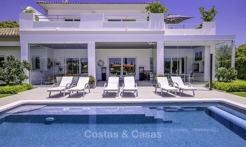 Elegant and very spacious modern-classic villa for sale, frontline golf in East Marbella 14901