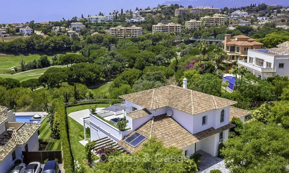 Elegant and very spacious modern-classic villa for sale, frontline golf in East Marbella 14902