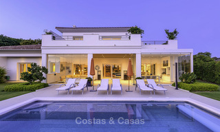 Elegant and very spacious modern-classic villa for sale, frontline golf in East Marbella 14903