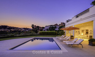 Elegant and very spacious modern-classic villa for sale, frontline golf in East Marbella 14905