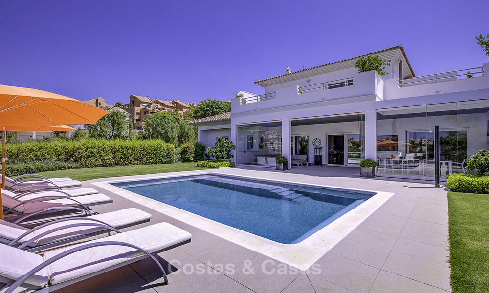 Elegant and very spacious modern-classic villa for sale, frontline golf in East Marbella 14906