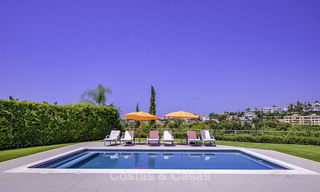 Elegant and very spacious modern-classic villa for sale, frontline golf in East Marbella 14907