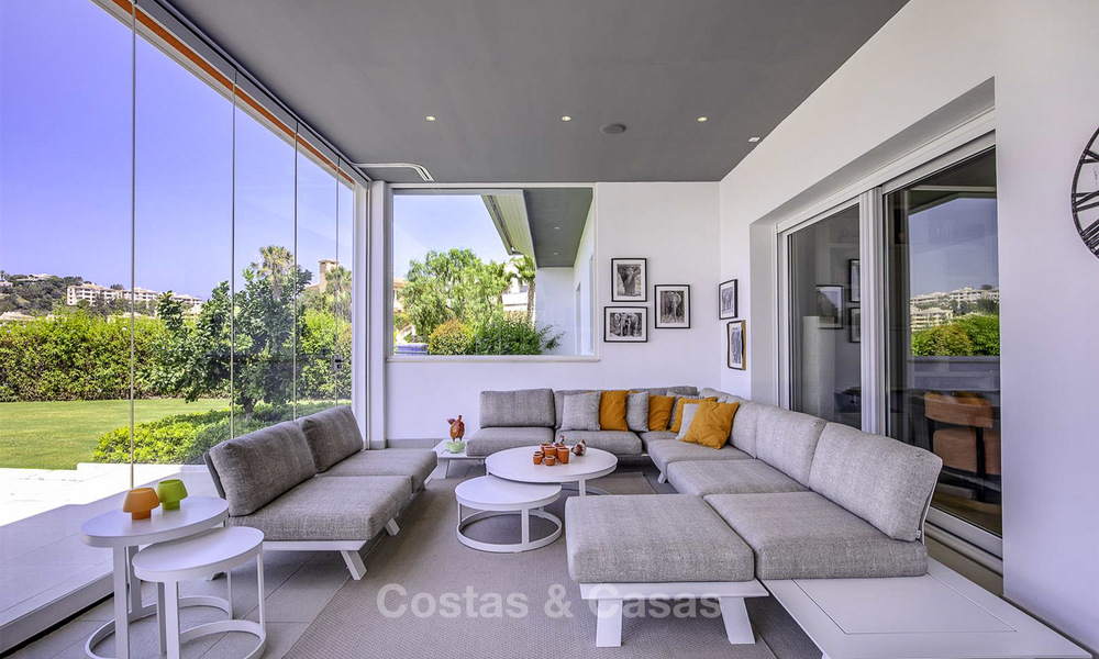 Elegant and very spacious modern-classic villa for sale, frontline golf in East Marbella 14909