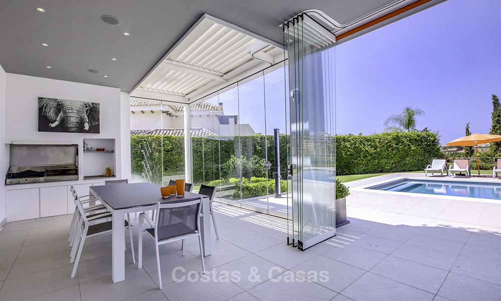 Elegant and very spacious modern-classic villa for sale, frontline golf in East Marbella 14910