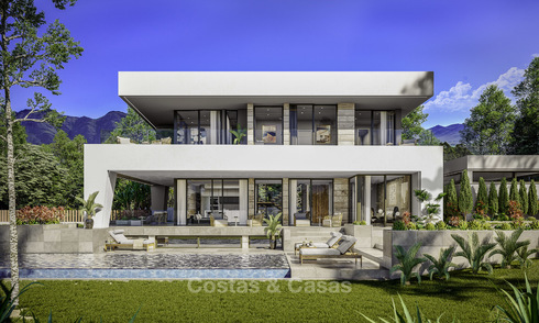 Gorgeous new modern-contemporary luxury villa with sea views for sale in a classy golf resort, Mijas, Costa del Sol 14934