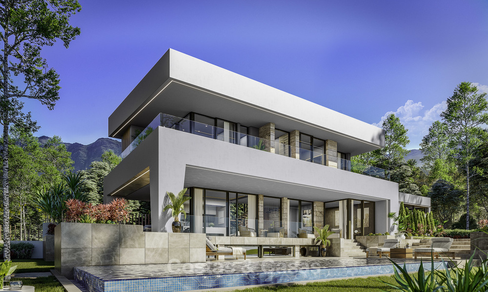 Gorgeous new modern-contemporary luxury villa with sea views for sale in a classy golf resort, Mijas, Costa del Sol 16348