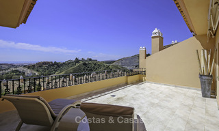 Spacious penthouse apartment with stunning sea views for sale in luxury complex in the Golf Valley, Nueva Andalucia, Marbella 17453