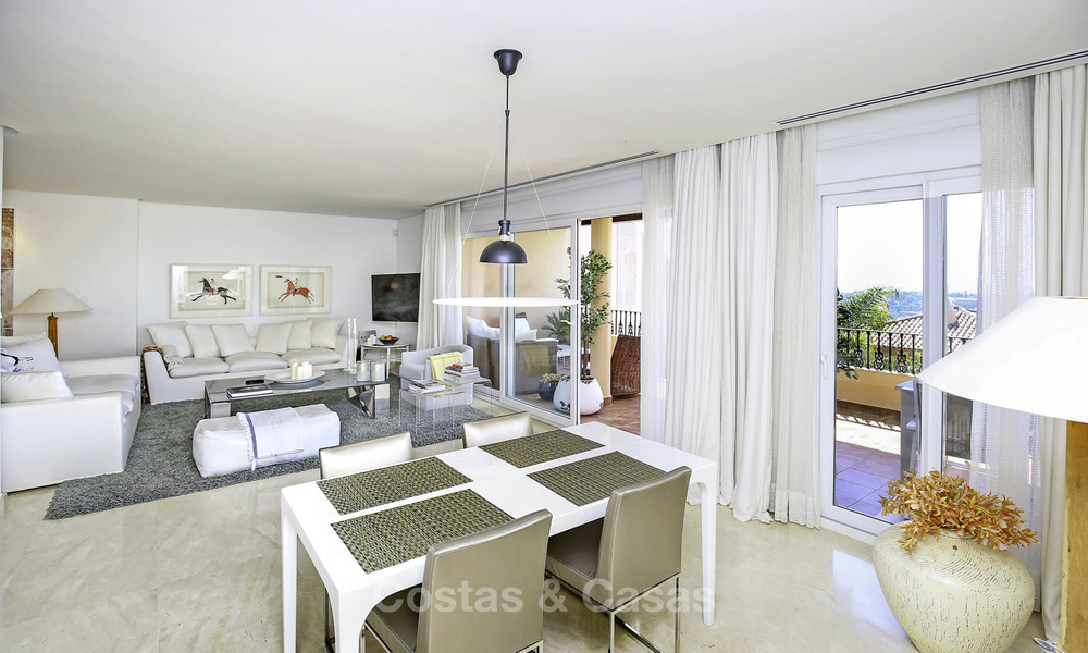Spacious penthouse apartment with stunning sea views for sale in luxury complex in the Golf Valley, Nueva Andalucia, Marbella 17465