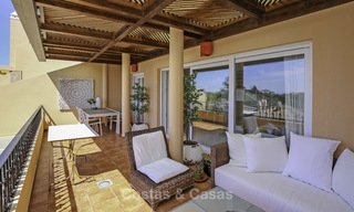 Spacious penthouse apartment with stunning sea views for sale in luxury complex in the Golf Valley, Nueva Andalucia, Marbella 17472