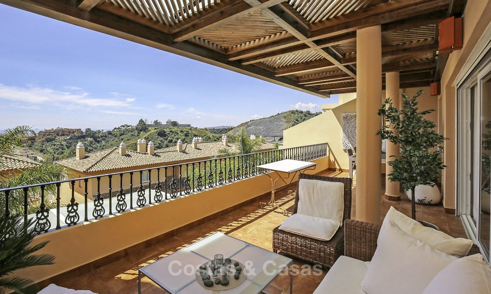 Spacious penthouse apartment with stunning sea views for sale in luxury complex in the Golf Valley, Nueva Andalucia, Marbella 17473