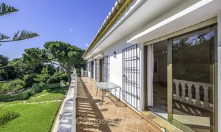 Spacious classical villa with excellent potential for sale in a quiet area of Elviria in East Marbella 15185