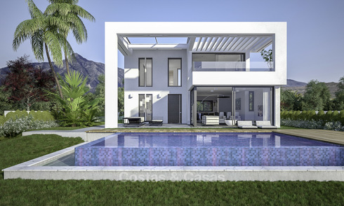 Brand new exclusive villas in contemporary style for sale, with magnificent sea and mountain views, Mijas, Costa del Sol 15193