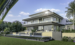 New contemporary luxury villas with panoramic sea and mountain views for sale in Elviria, Marbella 15239
