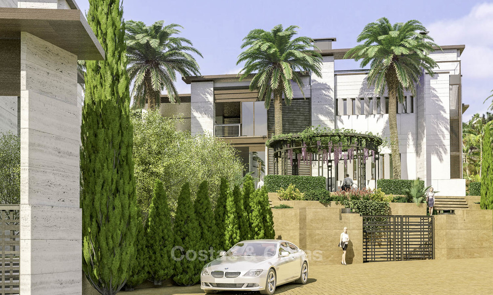 New mansion-style modern luxury villas for sale, walking distance to Puerto Banus, on the Golden Mile in Marbella 15301