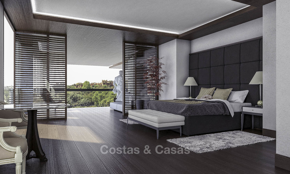 New mansion-style modern luxury villas for sale, walking distance to Puerto Banus, on the Golden Mile in Marbella 15305
