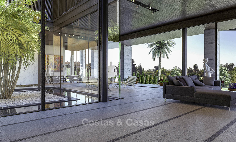New mansion-style modern luxury villas for sale, walking distance to Puerto Banus, on the Golden Mile in Marbella 15307