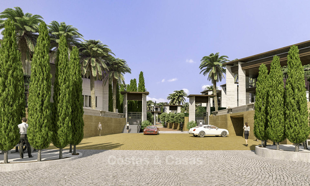 New mansion-style modern luxury villas for sale, walking distance to Puerto Banus, on the Golden Mile in Marbella 15308