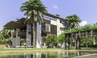 New mansion-style modern luxury villas for sale, walking distance to Puerto Banus, on the Golden Mile in Marbella 15309