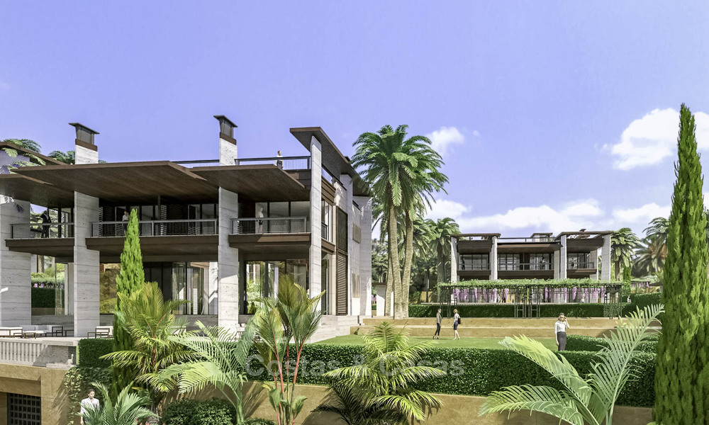 New mansion-style modern luxury villas for sale, walking distance to Puerto Banus, on the Golden Mile in Marbella 15312
