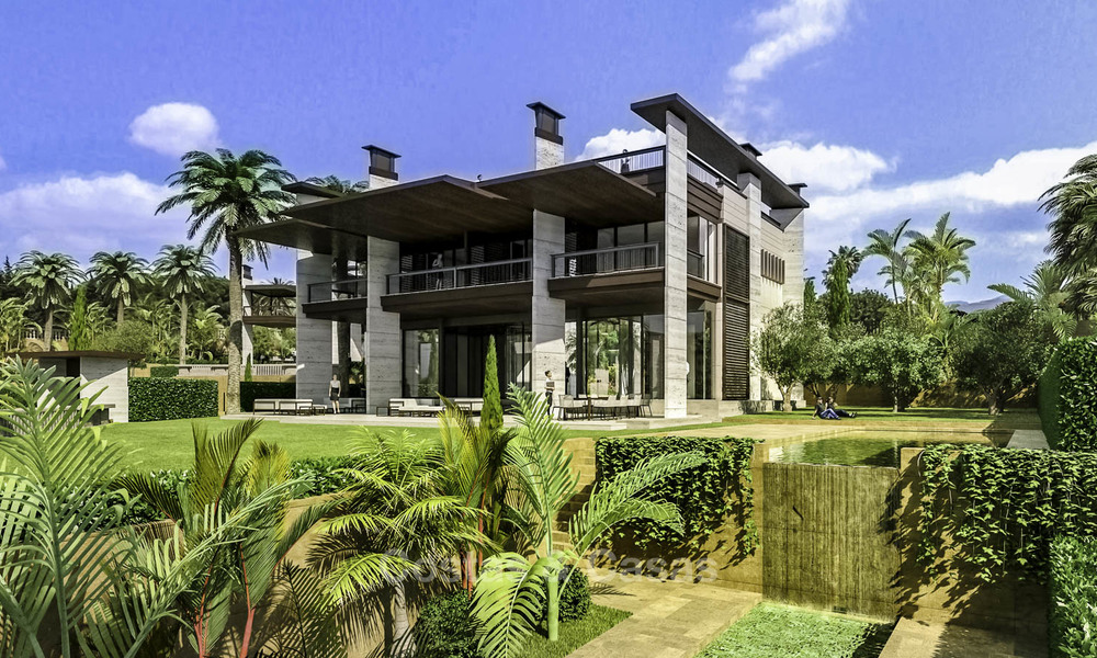 New mansion-style modern luxury villas for sale, walking distance to Puerto Banus, on the Golden Mile in Marbella 15313