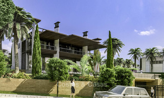 New mansion-style modern luxury villas for sale, walking distance to Puerto Banus, on the Golden Mile in Marbella 15314